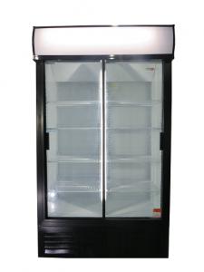 Double Sliding Door Beverage Cooler 885L