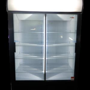 Double Sliding Door Beverage Cooler 1076L